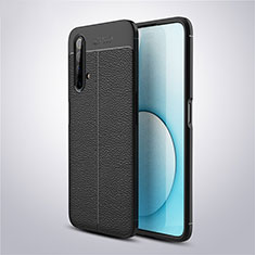 Soft Silicone Gel Leather Snap On Case Cover S03 for Realme X3 SuperZoom Black