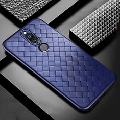 Soft Silicone Gel Leather Snap On Case Cover S04 for Huawei G10 Blue