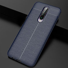 Soft Silicone Gel Leather Snap On Case Cover S04 for Xiaomi Redmi K30 5G Blue