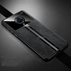 Soft Silicone Gel Leather Snap On Case Cover S06 for Vivo Nex 3 Black