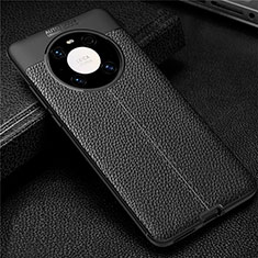 Soft Silicone Gel Leather Snap On Case Cover U01 for Huawei Mate 40 Pro Black