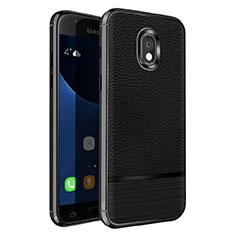 Soft Silicone Gel Leather Snap On Case for Samsung Galaxy J5 Pro (2017) J530Y Black