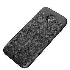 Soft Silicone Gel Leather Snap On Case K01 for Samsung Galaxy J5 (2017) SM-J750F Black