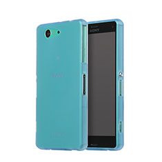 Soft Silicone Gel Matte Finish Cover for Sony Xperia Z3 Compact Sky Blue
