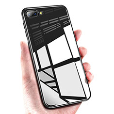 Soft Silicone Gel Mirror Case M01 for Huawei Honor 10 Black