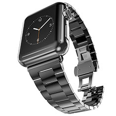 Stainless Steel Bracelet Band Strap for Apple iWatch 3 42mm Black