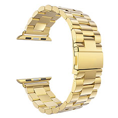Stainless Steel Bracelet Band Strap for Apple iWatch 3 42mm Gold