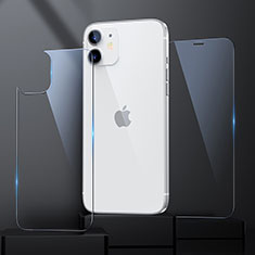 Tempered Glass Screen Protector Front and Back Film for Apple iPhone 12 Clear