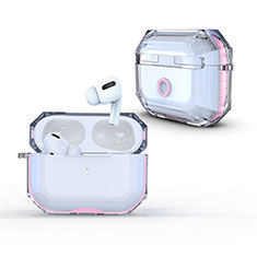 Transparent Crystal Hard Case Back Cover H01 for Apple AirPods Pro Pink