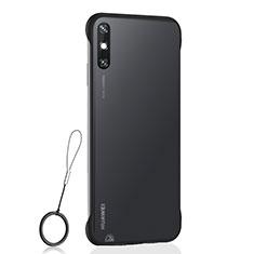 Transparent Crystal Hard Case Back Cover H01 for Huawei Enjoy 10e Black