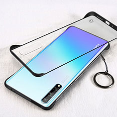 Transparent Crystal Hard Case Back Cover H01 for Huawei Enjoy 10S Black