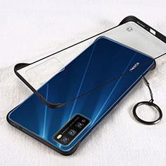 Transparent Crystal Hard Case Back Cover H01 for Huawei Enjoy 20 Pro 5G Black