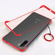 Transparent Crystal Hard Case Back Cover H01 for Huawei Mate 40 Lite 5G Red