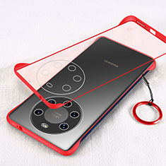 Transparent Crystal Hard Case Back Cover H01 for Huawei Mate 40 Pro+ Plus Red