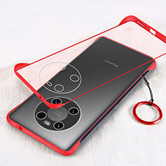Transparent Crystal Hard Case Back Cover H01 for Huawei Mate 40 Pro Red