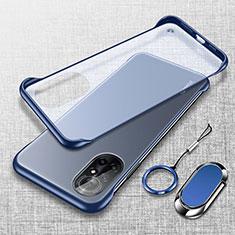 Transparent Crystal Hard Case Back Cover H01 for Huawei Nova 8 5G Blue