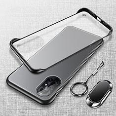 Transparent Crystal Hard Case Back Cover H01 for Huawei Nova 8 Pro 5G Black