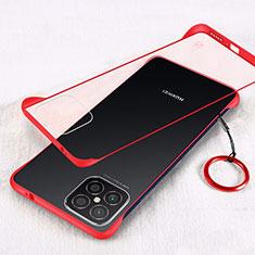 Transparent Crystal Hard Case Back Cover H01 for Huawei Nova 8 SE 5G Red