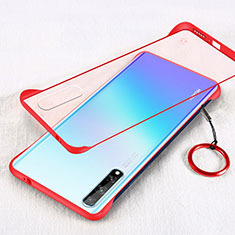 Transparent Crystal Hard Case Back Cover H01 for Huawei Y8p Red