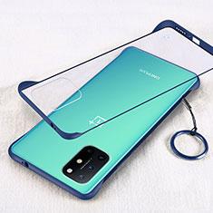 Transparent Crystal Hard Case Back Cover H01 for OnePlus 8T 5G Blue