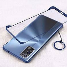 Transparent Crystal Hard Case Back Cover H01 for Oppo K7x 5G Blue