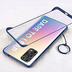 Transparent Crystal Hard Case Back Cover H01 for Realme Q2 Pro 5G Blue