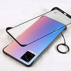 Transparent Crystal Hard Case Back Cover H01 for Vivo V20 Pro 5G Black