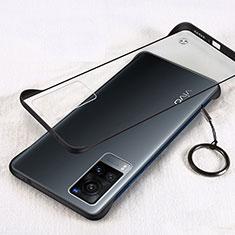 Transparent Crystal Hard Case Back Cover H01 for Vivo X60 5G Black