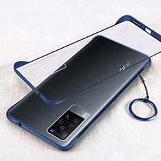 Transparent Crystal Hard Case Back Cover H01 for Vivo X60 5G Blue