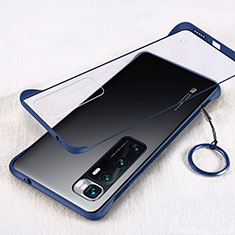 Transparent Crystal Hard Case Back Cover H01 for Xiaomi Mi 10 Ultra Blue