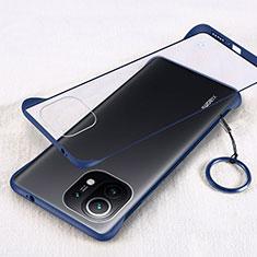 Transparent Crystal Hard Case Back Cover H01 for Xiaomi Mi 11 5G Blue