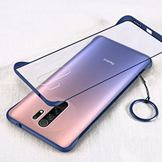 Transparent Crystal Hard Case Back Cover H01 for Xiaomi Redmi 9 Blue