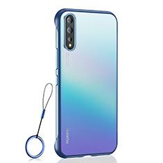 Transparent Crystal Hard Case Back Cover H02 for Huawei Enjoy 10S Blue