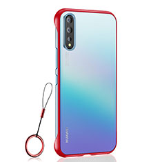 Transparent Crystal Hard Case Back Cover H02 for Huawei Enjoy 10S Red