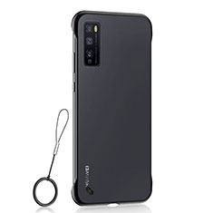 Transparent Crystal Hard Case Back Cover H02 for Huawei Enjoy 20 Pro 5G Black