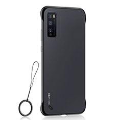 Transparent Crystal Hard Case Back Cover H02 for Huawei Enjoy Z 5G Black