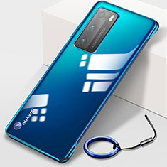 Transparent Crystal Hard Case Back Cover N02 for Huawei P40 Blue