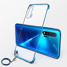 Transparent Crystal Hard Case Back Cover S01 for Huawei Nova 6 5G Blue