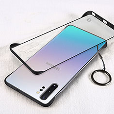 Transparent Crystal Hard Case Back Cover S01 for Samsung Galaxy Note 10 Plus 5G Black