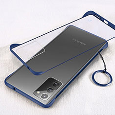 Transparent Crystal Hard Case Back Cover S01 for Samsung Galaxy Note 20 5G Blue