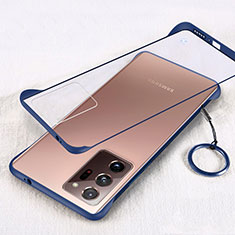Transparent Crystal Hard Case Back Cover S01 for Samsung Galaxy Note 20 Ultra 5G Blue