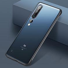 Transparent Crystal Hard Case Back Cover S01 for Xiaomi Mi 10 Pro Black