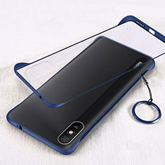 Transparent Crystal Hard Case Back Cover S01 for Xiaomi Redmi 9i Blue