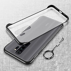 Transparent Crystal Hard Case Back Cover S01 for Xiaomi Redmi Note 8 Pro Black