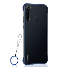 Transparent Crystal Hard Case Back Cover S02 for Xiaomi Redmi Note 8 Blue
