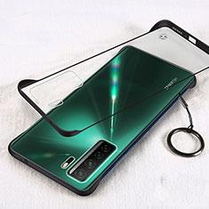 Transparent Crystal Hard Case Back Cover S03 for Huawei P40 Lite 5G Black