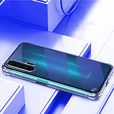 Transparent Crystal Hard Rigid Case Back Cover H01 for Huawei Honor 20 Pro Blue