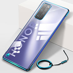 Transparent Crystal Hard Rigid Case Back Cover H01 for Huawei Honor 30 Pro Blue