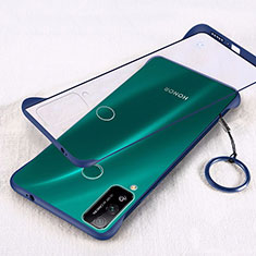 Transparent Crystal Hard Rigid Case Back Cover H01 for Huawei Honor Play4T Blue