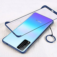Transparent Crystal Hard Rigid Case Back Cover H01 for Huawei Honor Play4T Pro Blue